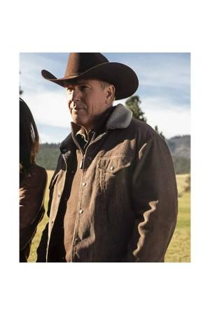 Yellowstone John Dutton Brown Corduroy Jacket