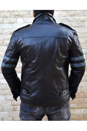 Resident Evil 6 Leon Real Leather Jacket