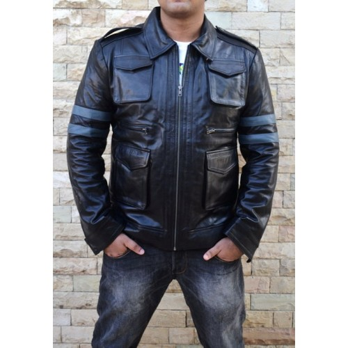 Resident Evil 6 Leon Synthetic Leather Jacket